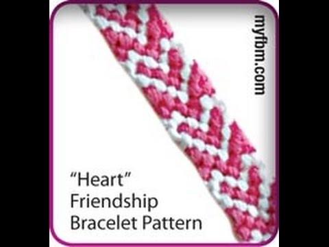 Friendship Bracelet Tutorial Heart Pattern