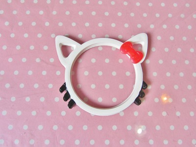 Hello Kitty Bangle resin tutorial - bracciale di Hello Kitty
