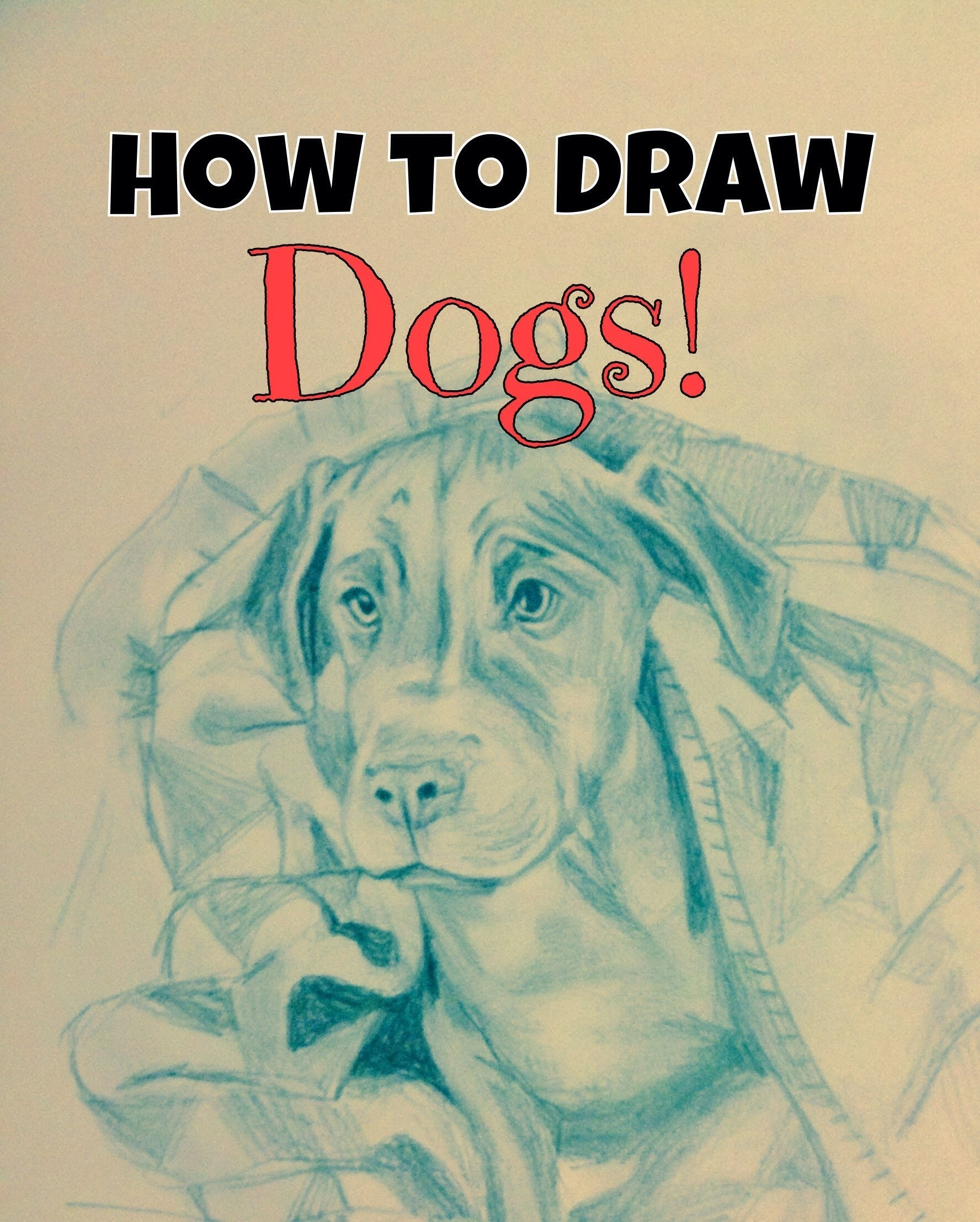 How to draw dogs! Tutorial