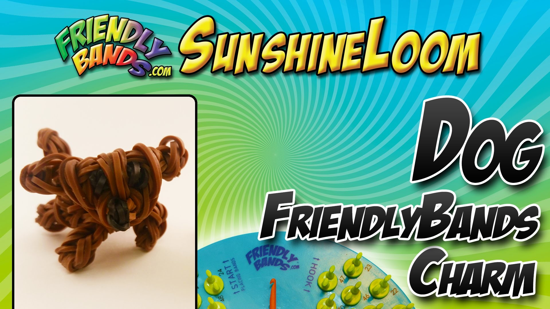 How to Make a FriendlyBand SunshineLoom - Dog Charm Video Tutorial