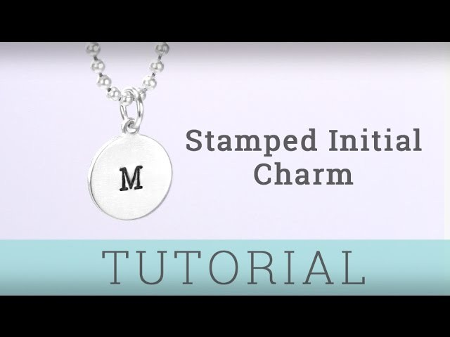 ImpressArt Stamped Initial Charm Pendant Tutorial