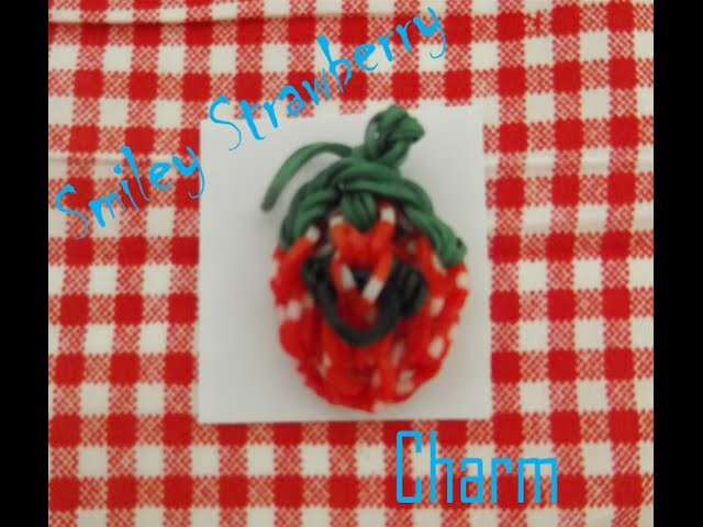 Loom Bands: Smiley Strawberry Charm Tutorial!