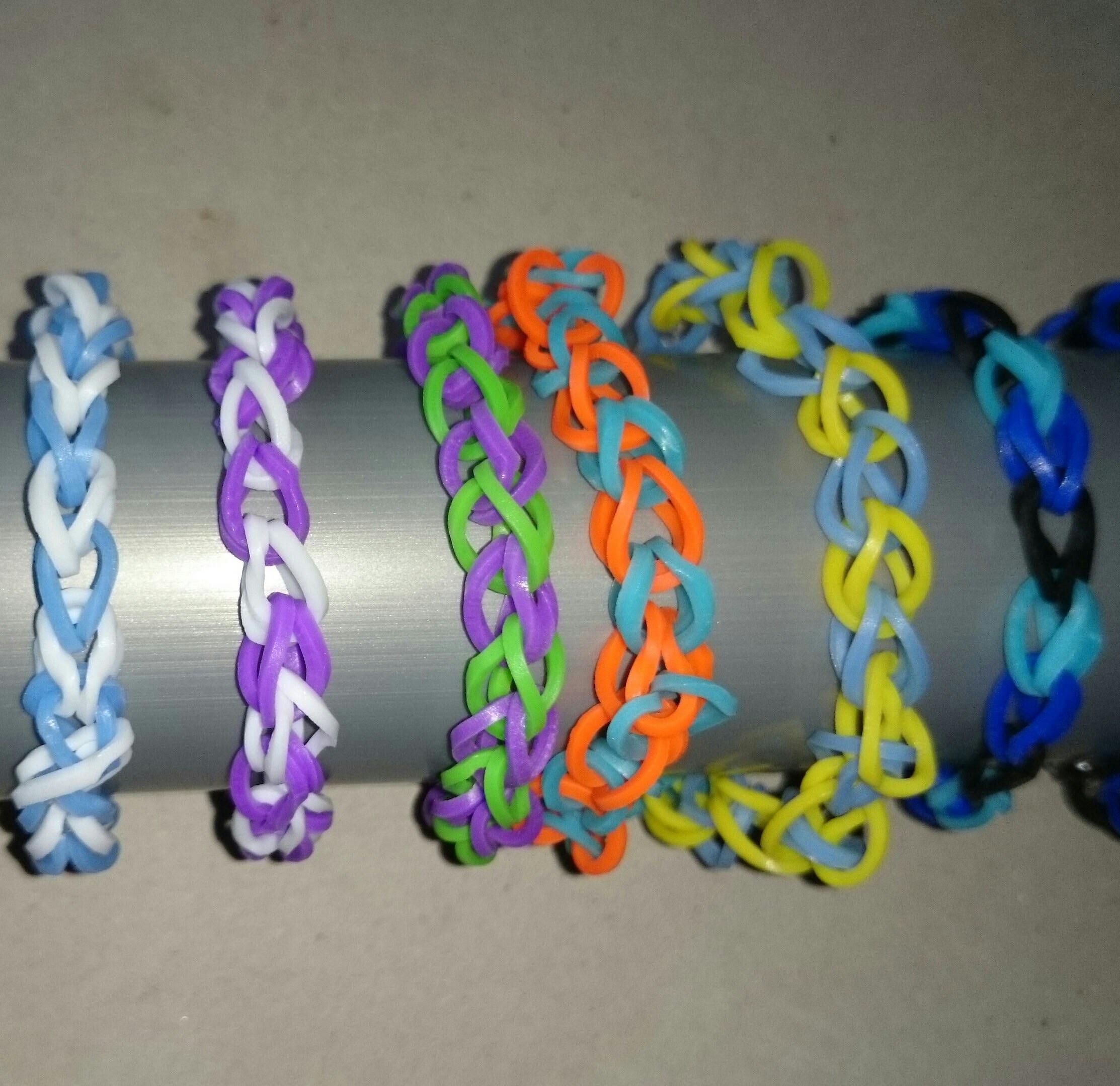 Loom bracelet tutorial EASY for beginner