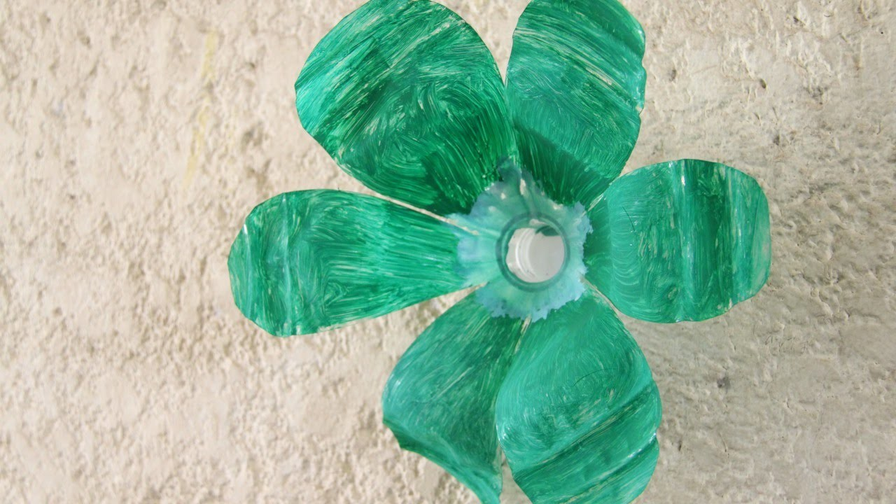 Make a Flower Decoration from a Plastic Bottle - DIY Home - Guidecentral