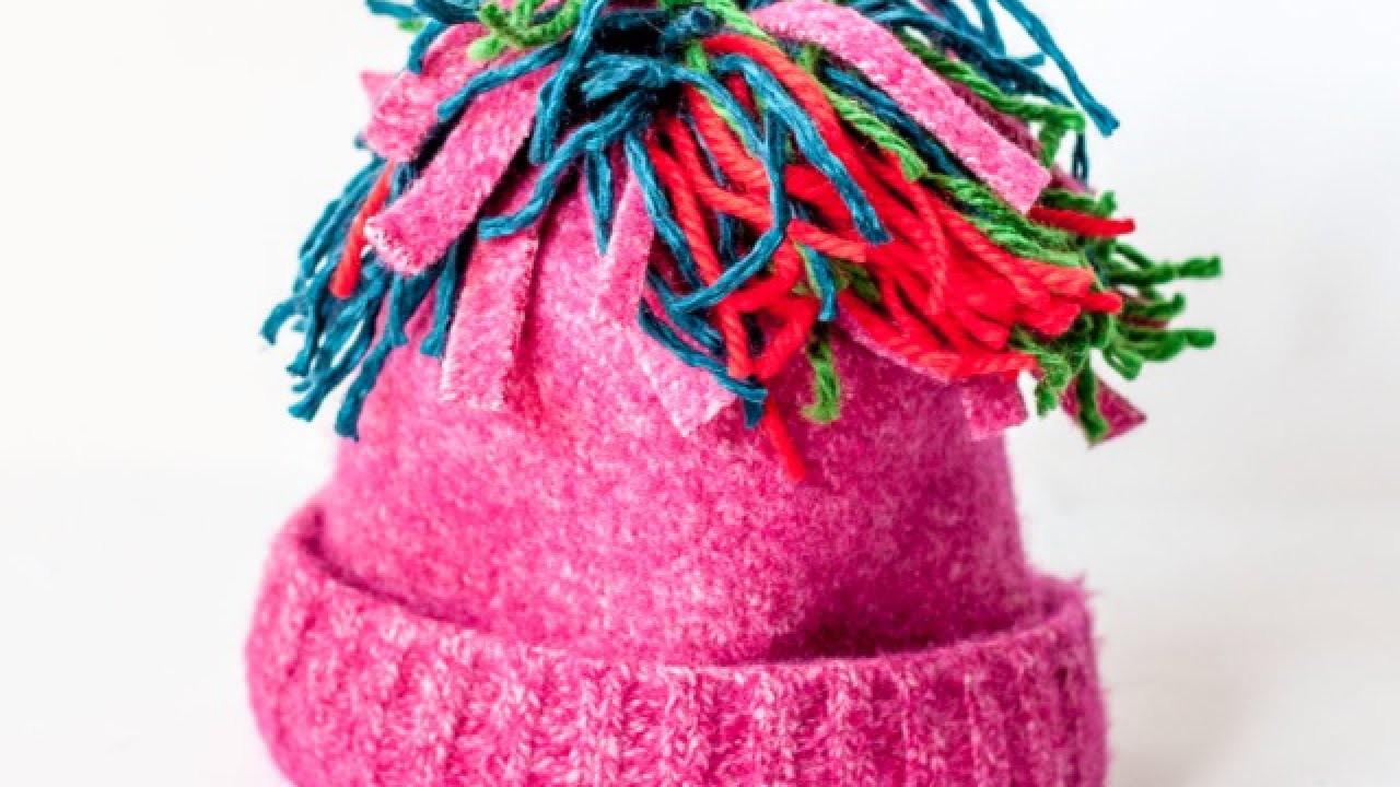 Make a Pretty Winter Pom-Pom Hat - DIY Style - Guidecentral