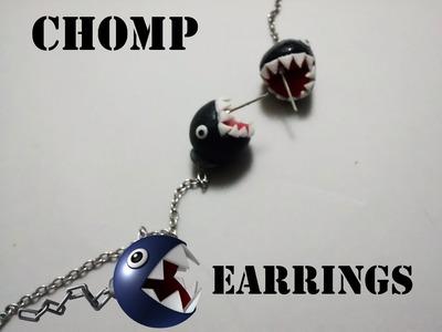 Mario Bros Chomp earrings tutorial. Tutorial de aretes de Chomp Mario Bros