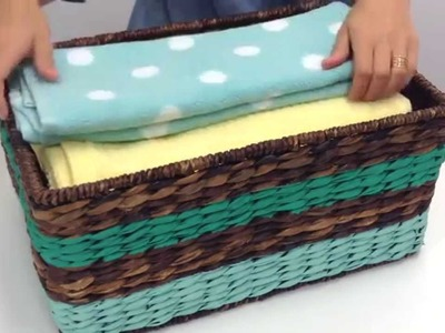 Plain to Pretty: DIY Painted Basket – Woman's Day