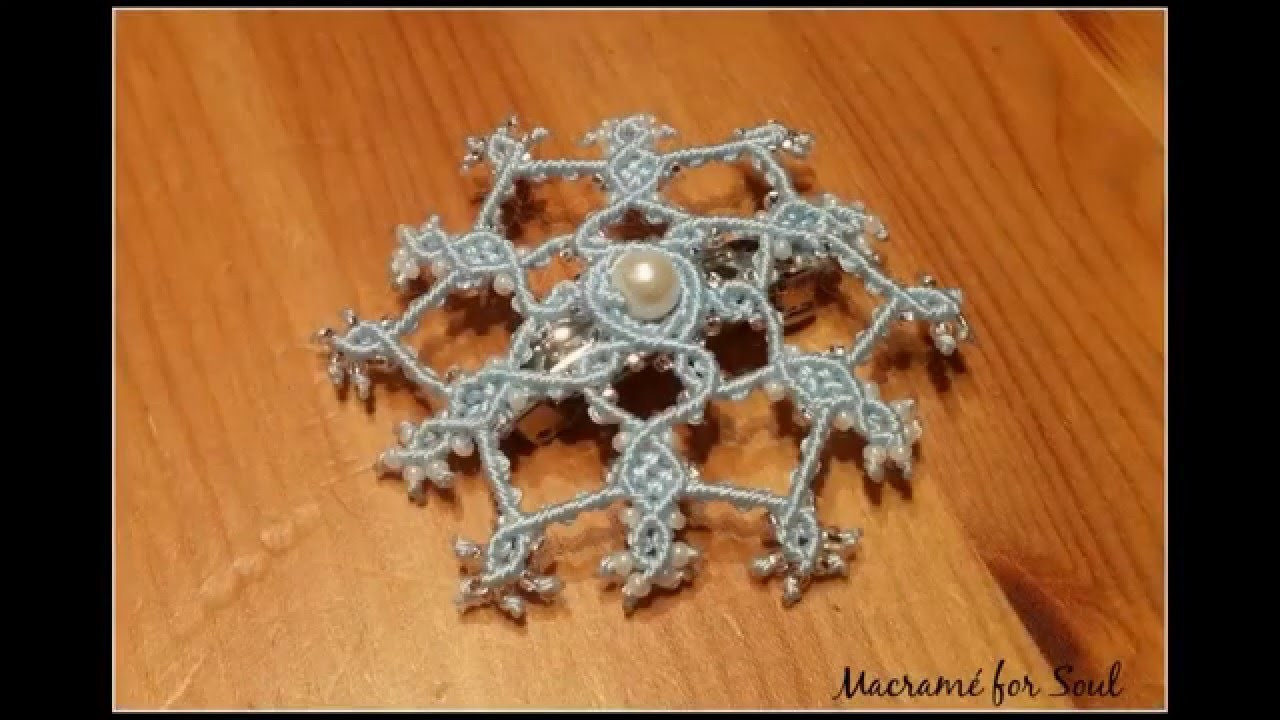 Preview video - Snowflake Hair Accessories Micro-Macrame Tutorial
