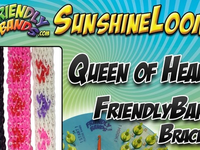 QUEEN OF HEARTS FriendlyBands Bracelet Tutorial