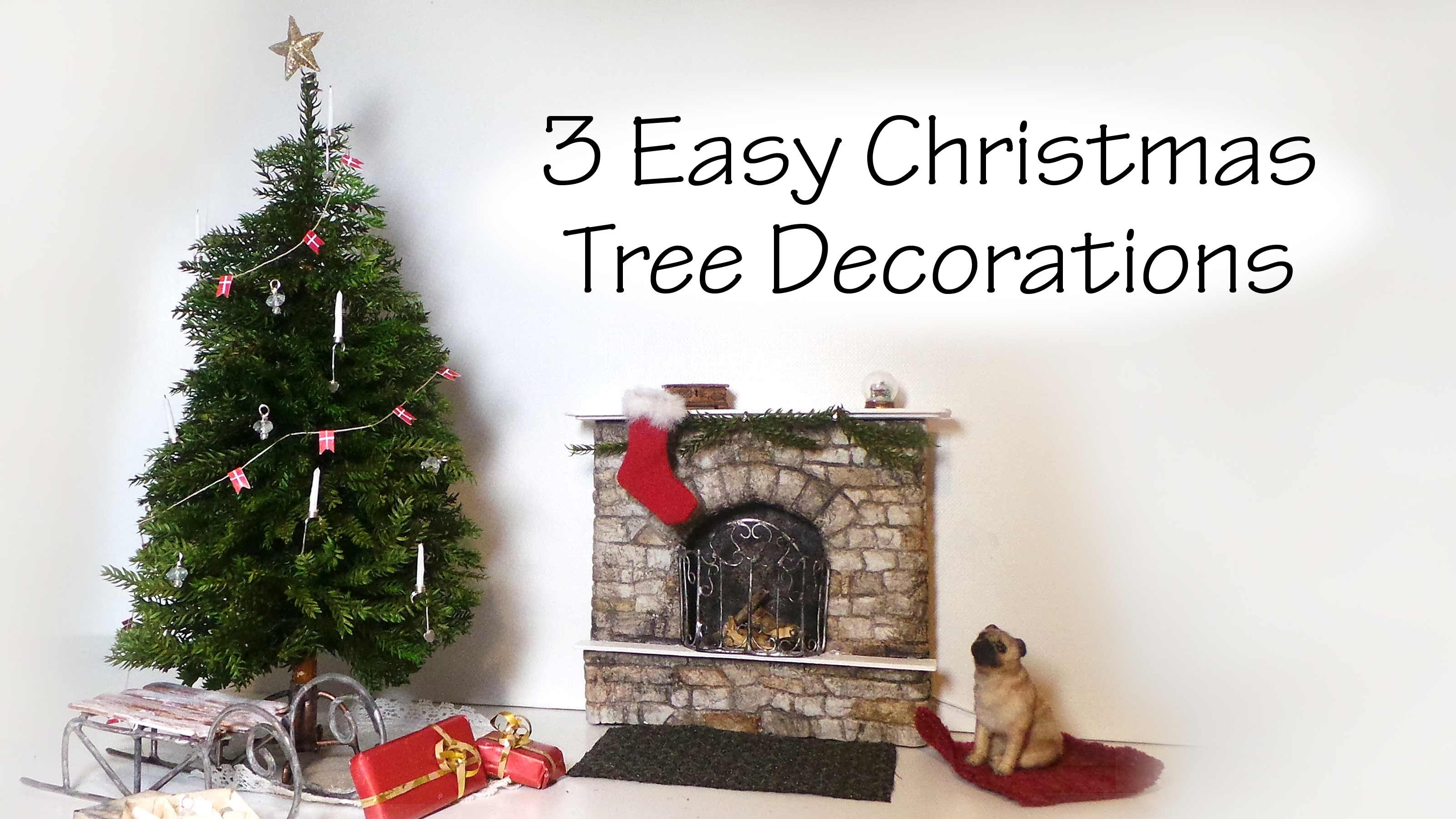 QUICK.EASY Miniature Christmas Tree Decoration Tutorial