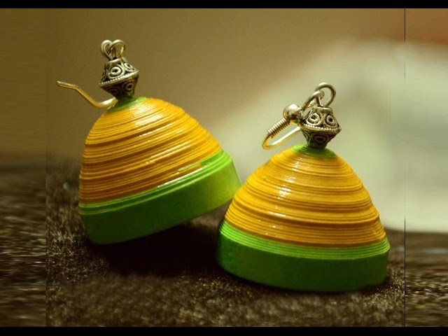 Quilling jhumka tutorial   quilling papers earring    handicrafts making