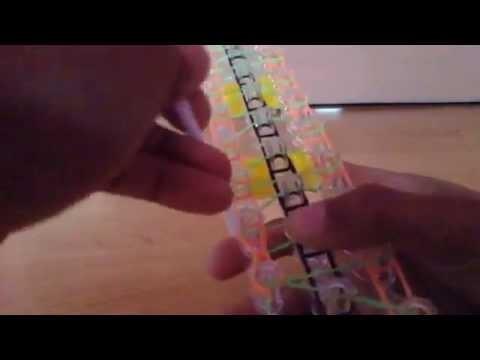Rain low loom triple single link chain tutorial