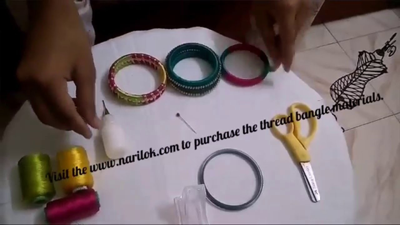 Silk thread bangle making tutorial.