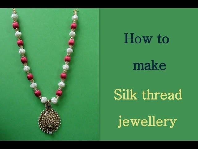 Silk thread jewellery  Tutorial video