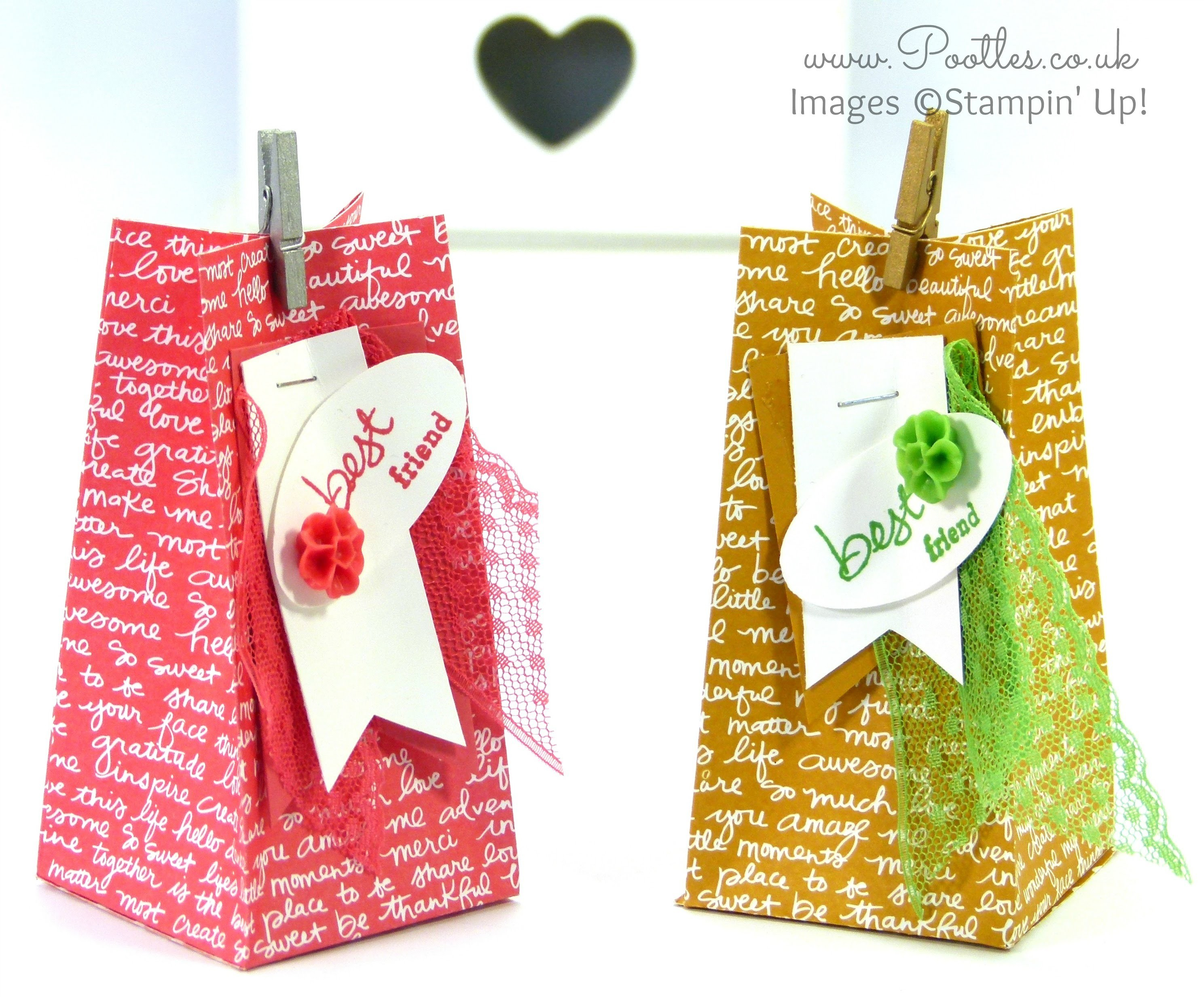Stampin' Up! Scripted Square Bag Tutorial