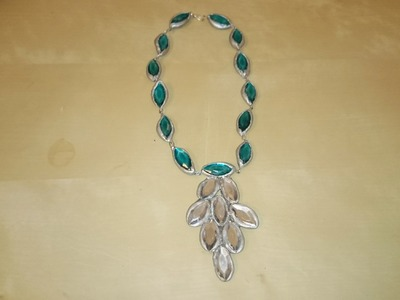 Terracotta blue stone necklace | Terracotta.clay jewellery making tutorial