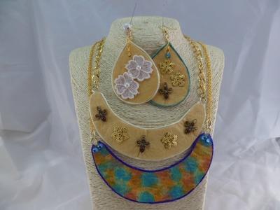 TUTORIAL : Orecchini e collane fashion con un semplice panno da cucina
