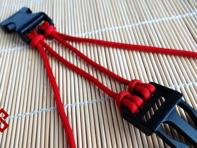 Two Strand Double Cow's Hitch Paracord Buckle Core Tutorial