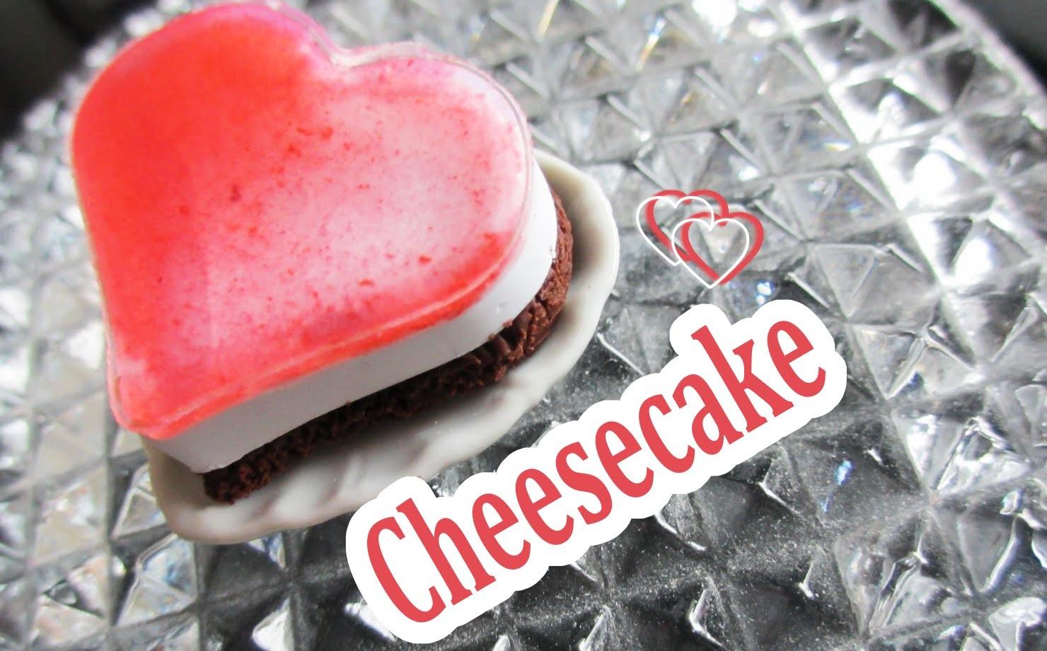 Valentine's Day Cheesecake. miniature tutorial