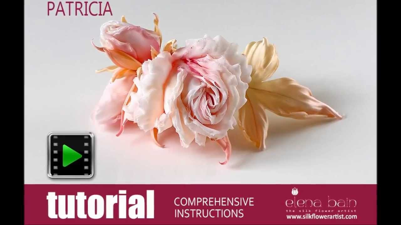 Video tutorial Silk Rose Patricia