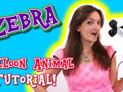 Zebra Balloon Animal Tutorial - Balloon How To's with Holly!