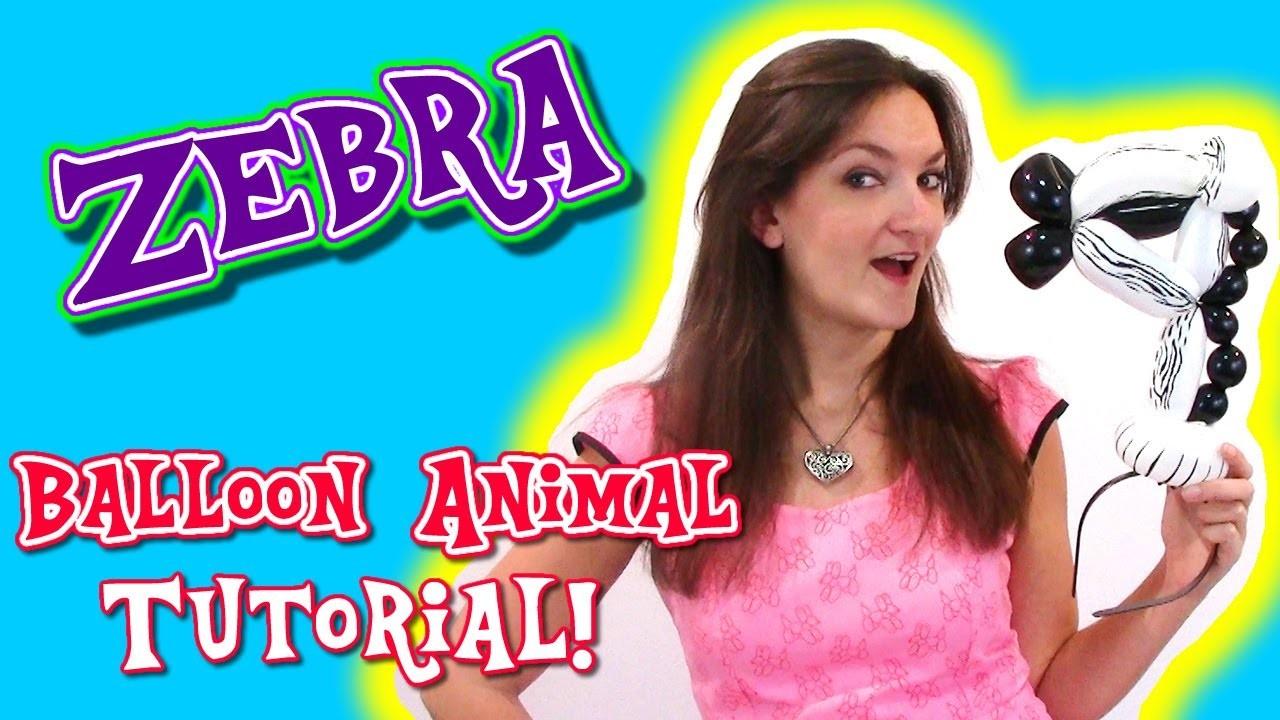 Zebra Balloon Animal Tutorial - Balloon How To's with Holly!