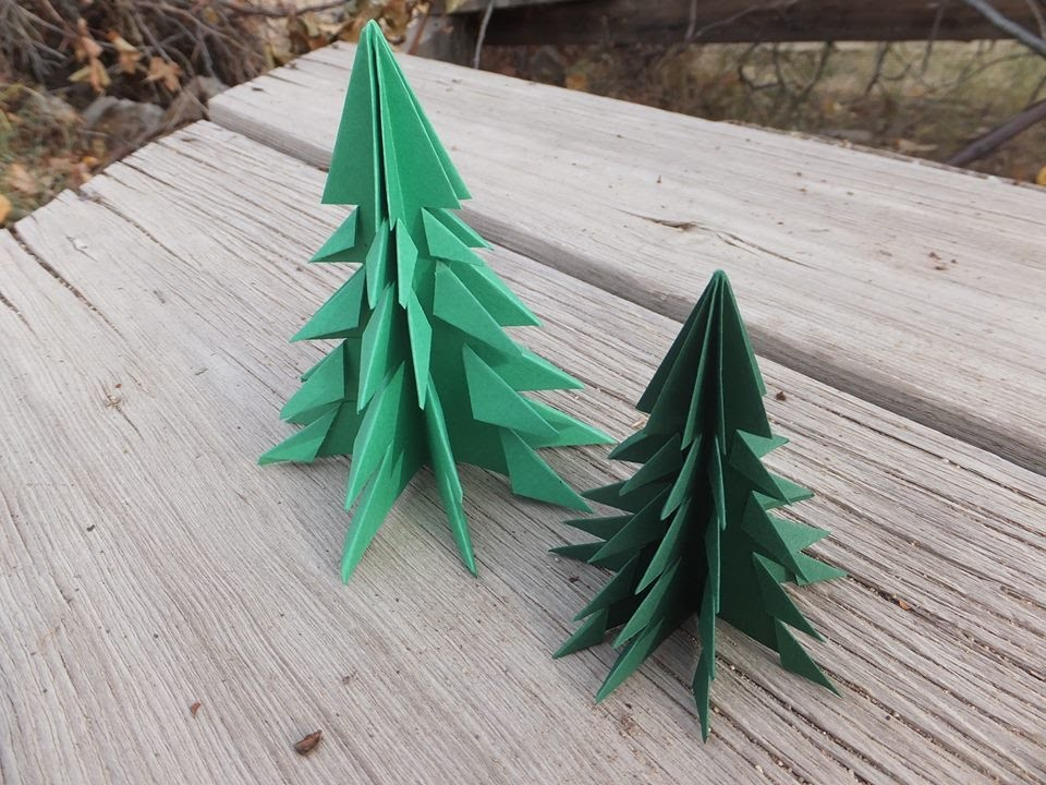 3D Paper Christmas Tree (Easy Tutorial)| Pixiepineapple