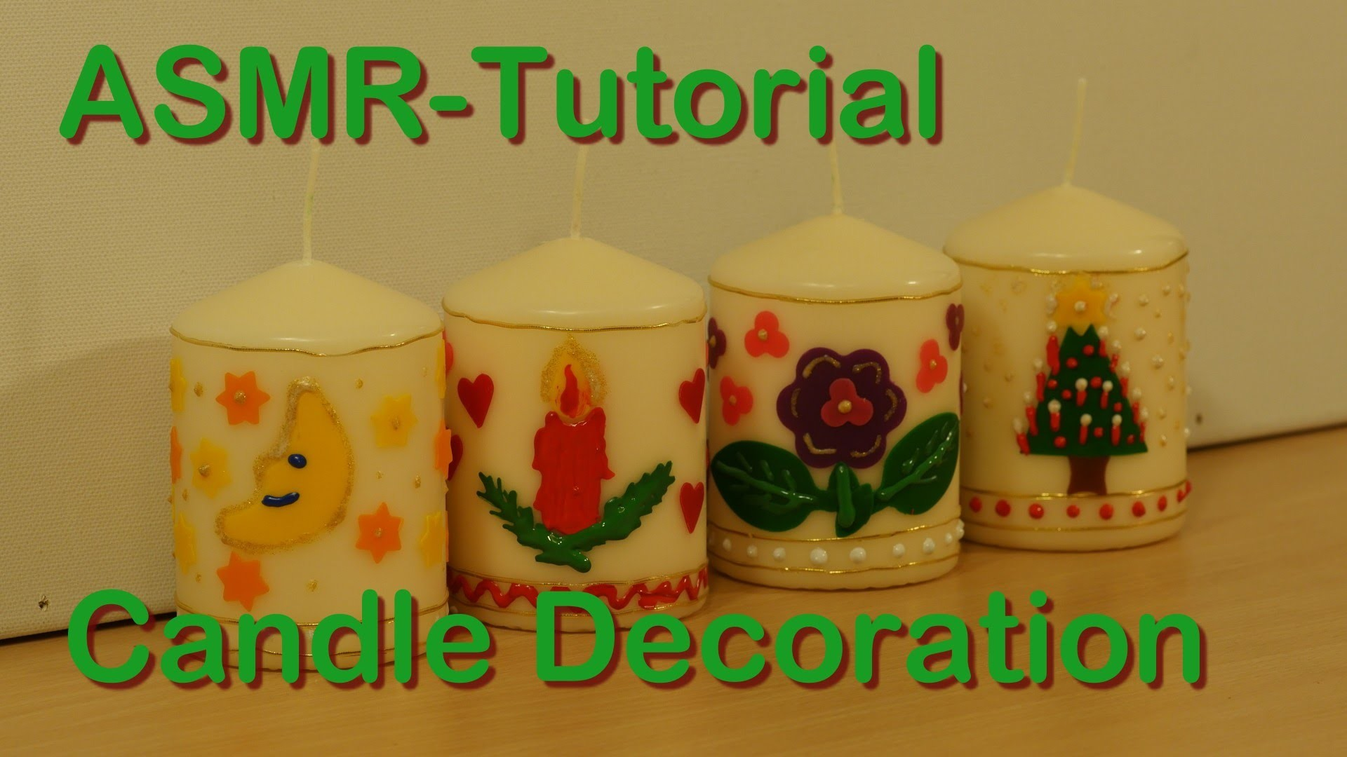 ASMR-Tutorial: Candle decoration - Granny Tana shows how it's done - soft spoken