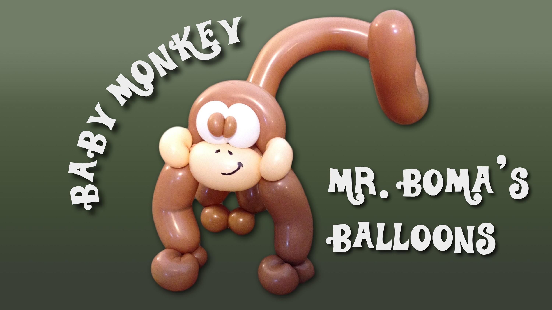 Baby Monkey Balloon Animal Tutorial (Balloon Twisting and Modeling #11.2 )