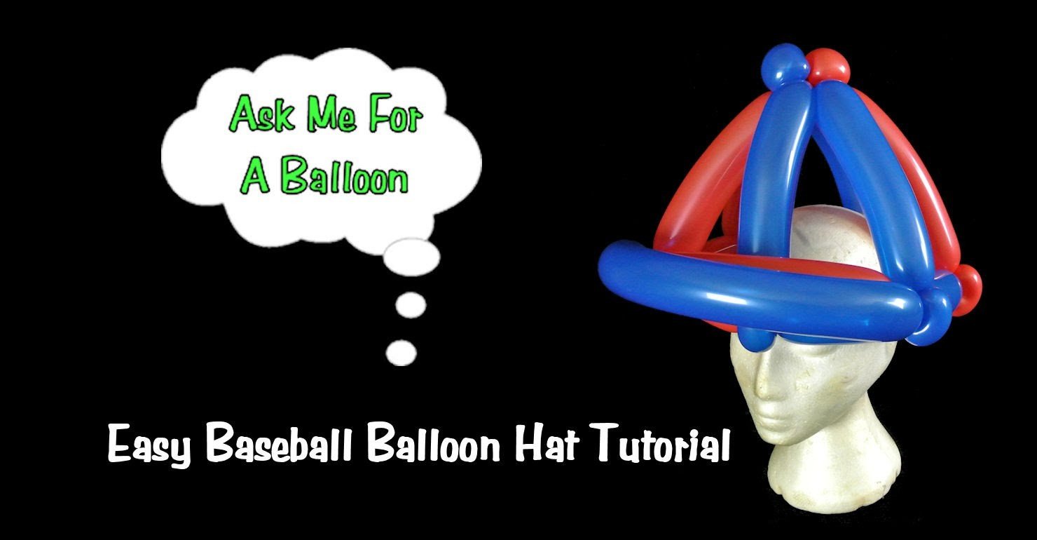 Baseball Hat Balloon Animal Tutorial