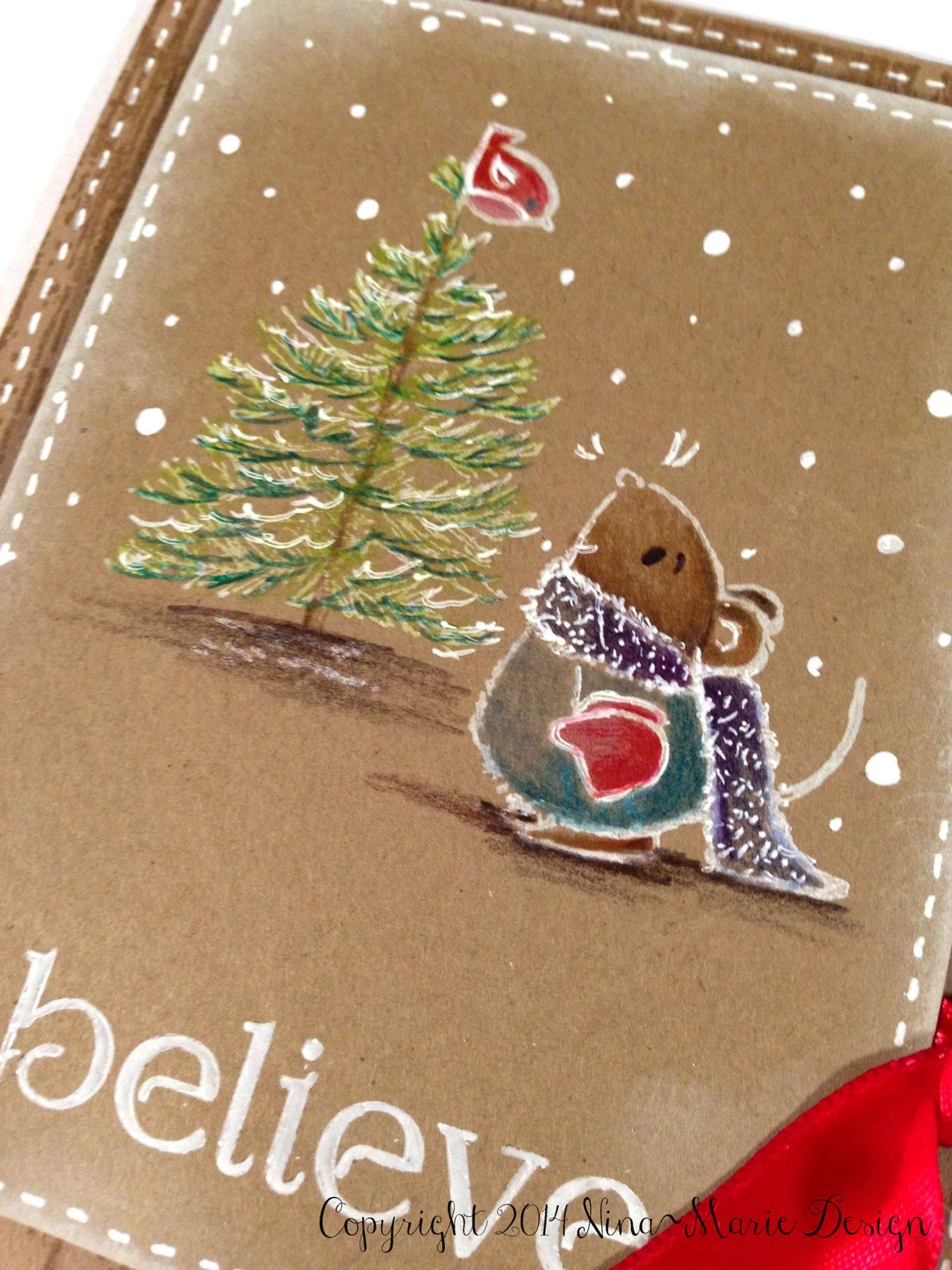 Believe in Christmas- Colored Pencil Tutorial