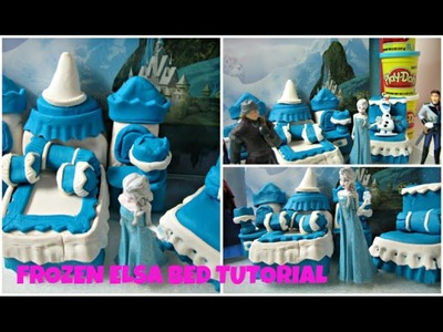 Cake Idea - Frozen Elsa Bed Tutorial.Play Doh- Massinha.