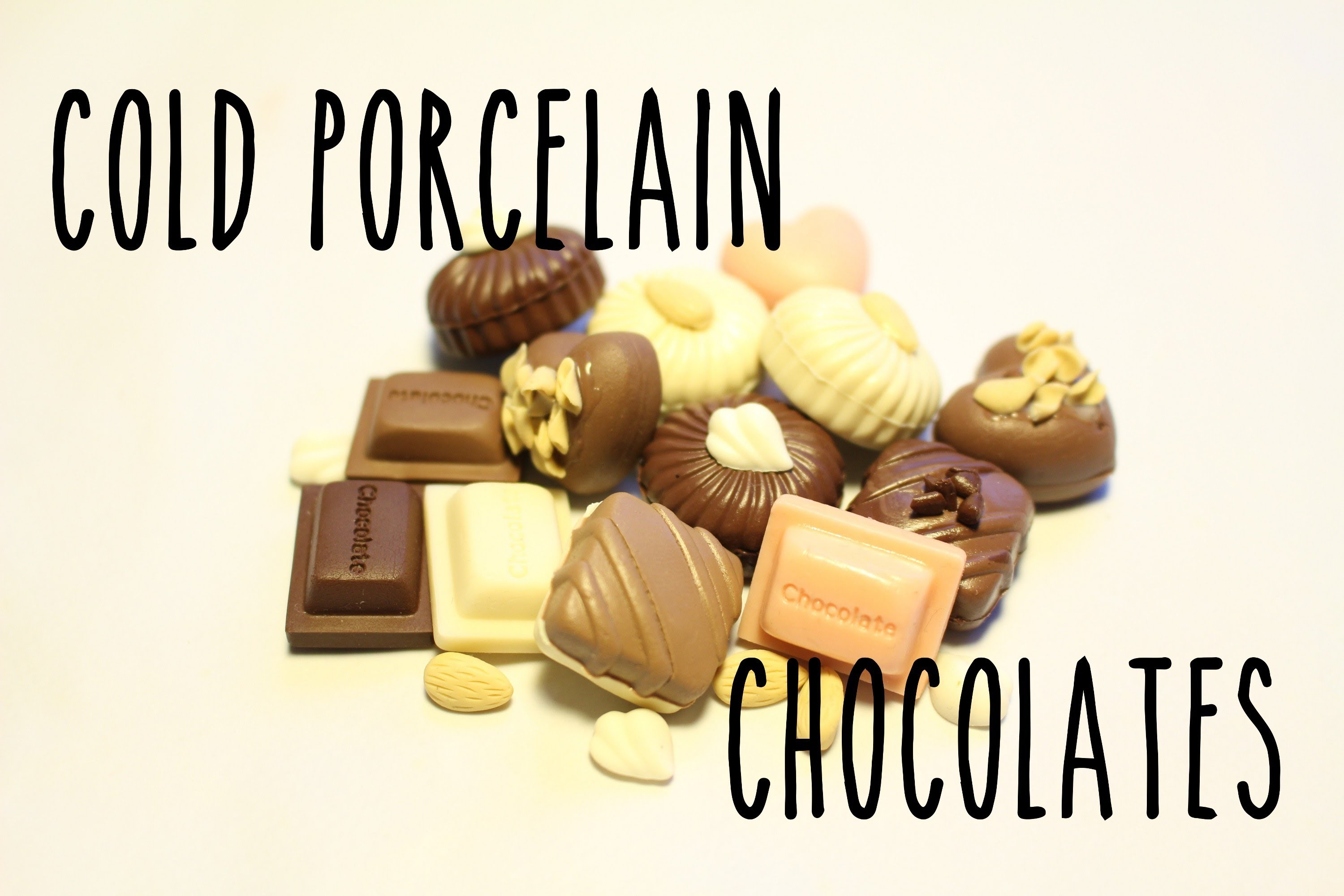 Cold porcelain tutorial: Chocolate truffles