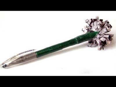 Come decorare una penna con un fiore di stoffa - Tutorial