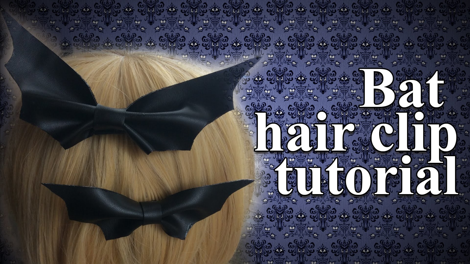 Days Of Halloween: Bat Hair Clip Tutorial