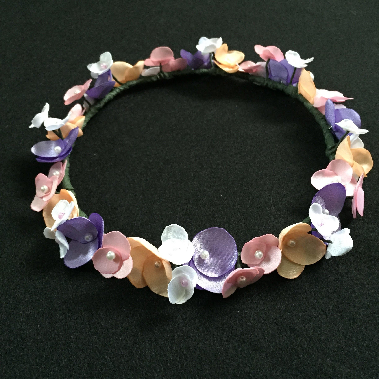 DIY Fabric Flower Crown Tutorial