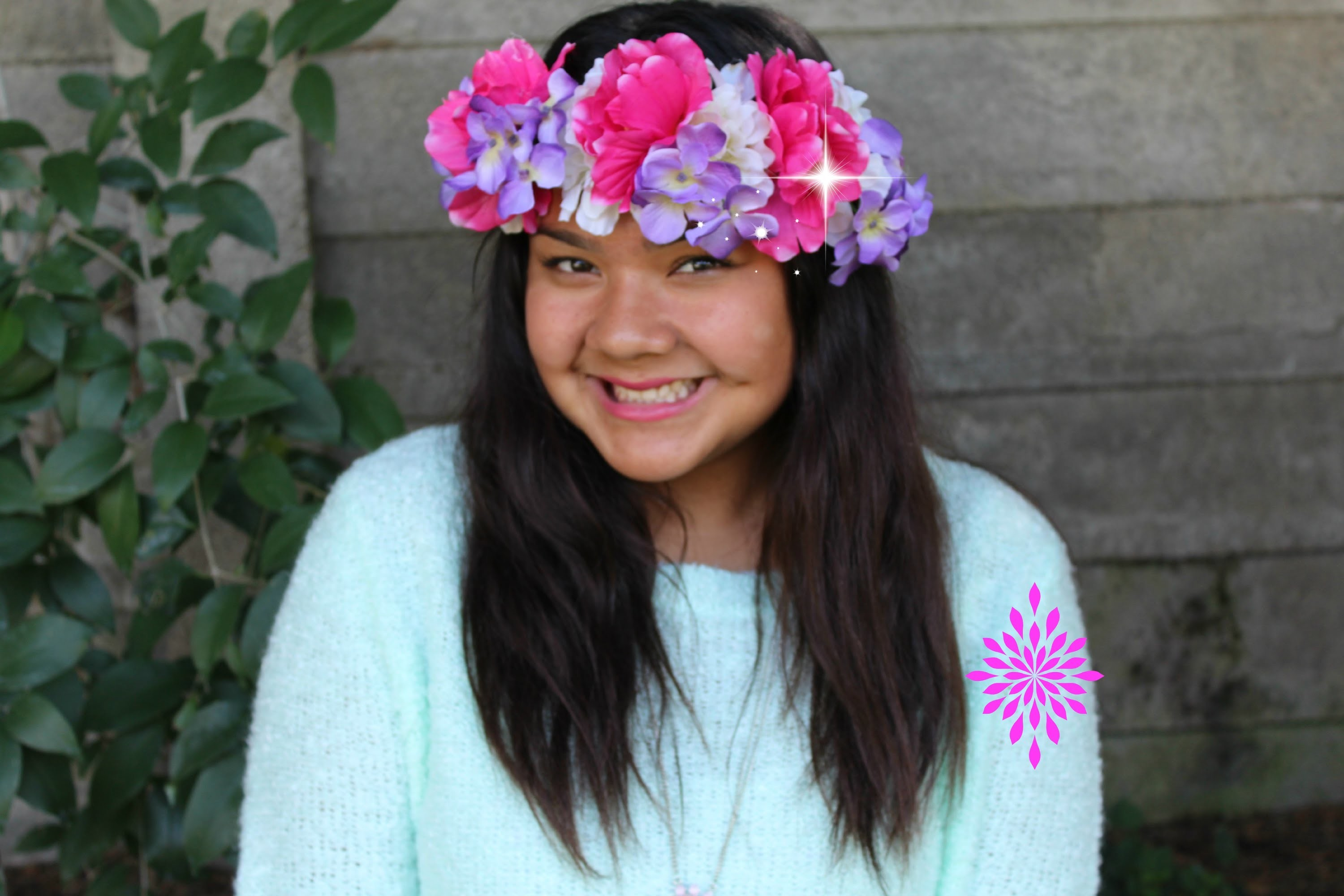 DIY flower crown♥