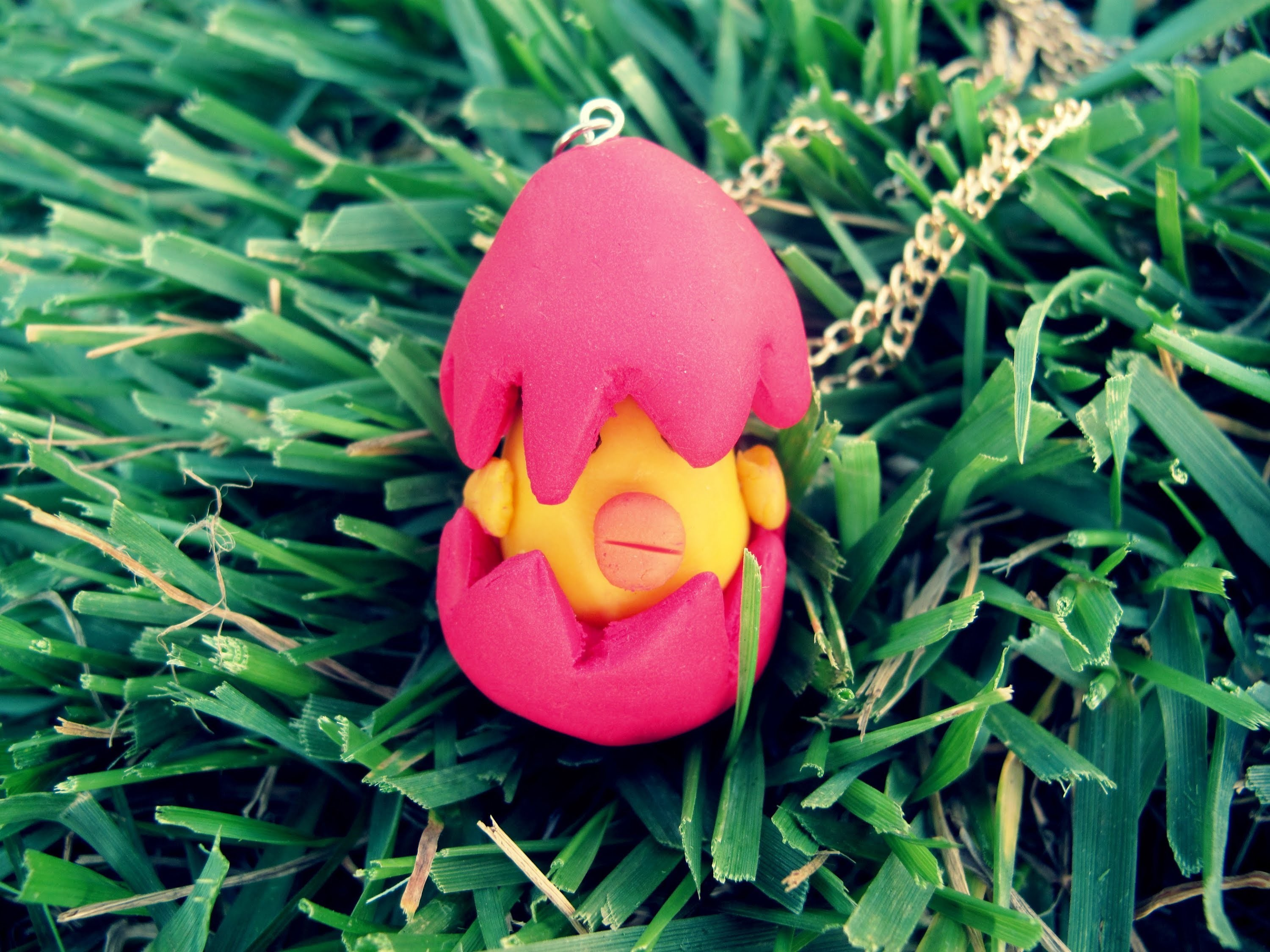 Easter chick necklace tutorial