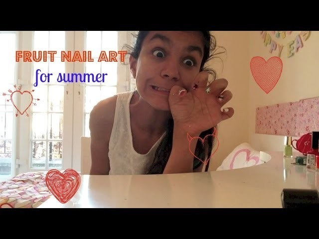 Easy and cute fruit nail art tutorial for summer