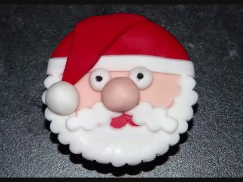 Father Christmas Cupcake Tutorial