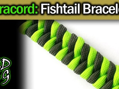 Fishtail Paracord Bracelet Tutorial (2 color weave)
