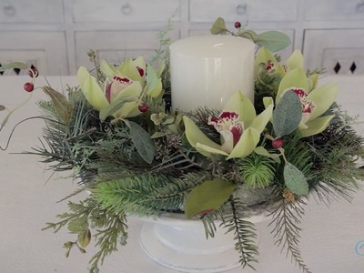 Floristry Tutorial: Making an Allergy Free Christmas Table Centerpiece