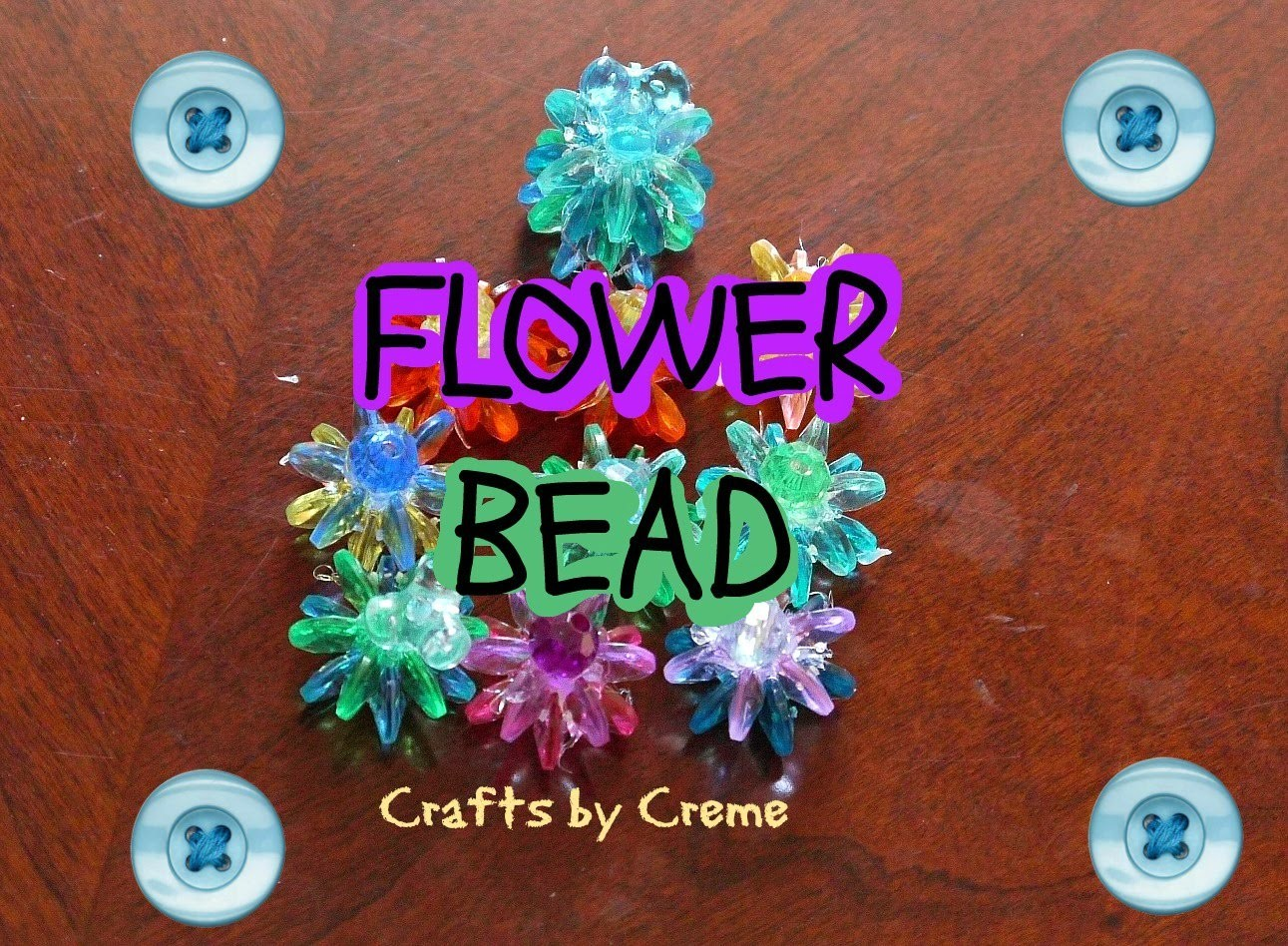 ✿ FLOWER BEAD ✿ | Super Easy Craft Tutorial | Crafts by Creme