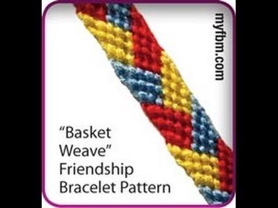 Friendship Bracelet Tutorial Basket Weave Pattern
