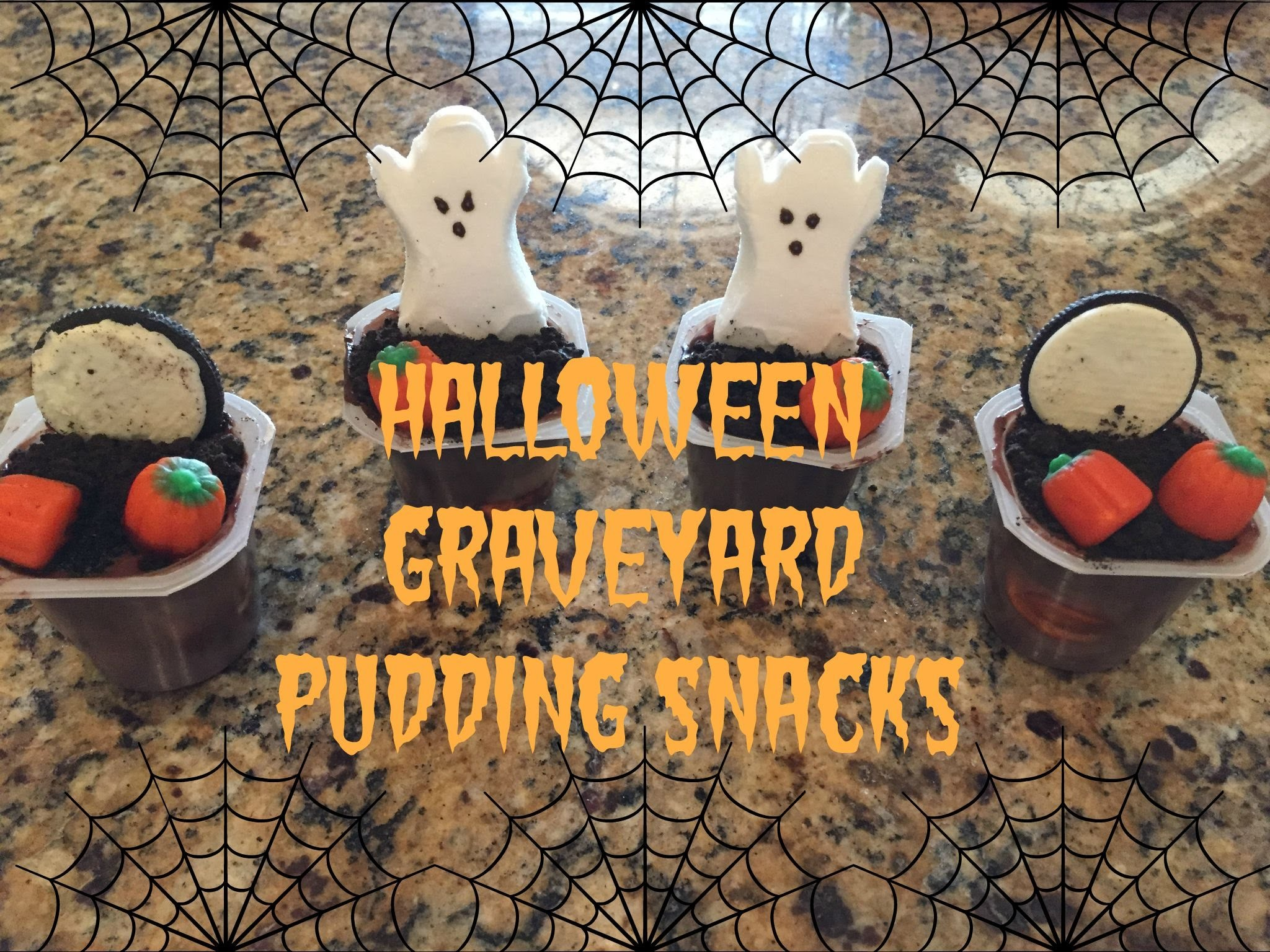 Halloween Graveyard Pudding Tutorial