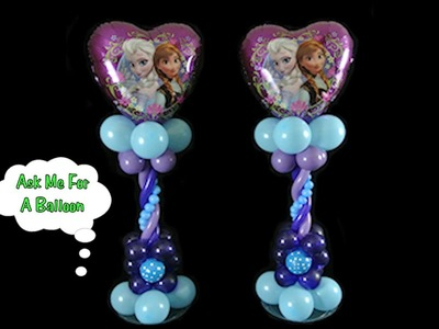 Heart Frozen Balloon Centerpiece - Balloon Decoration Tutorial