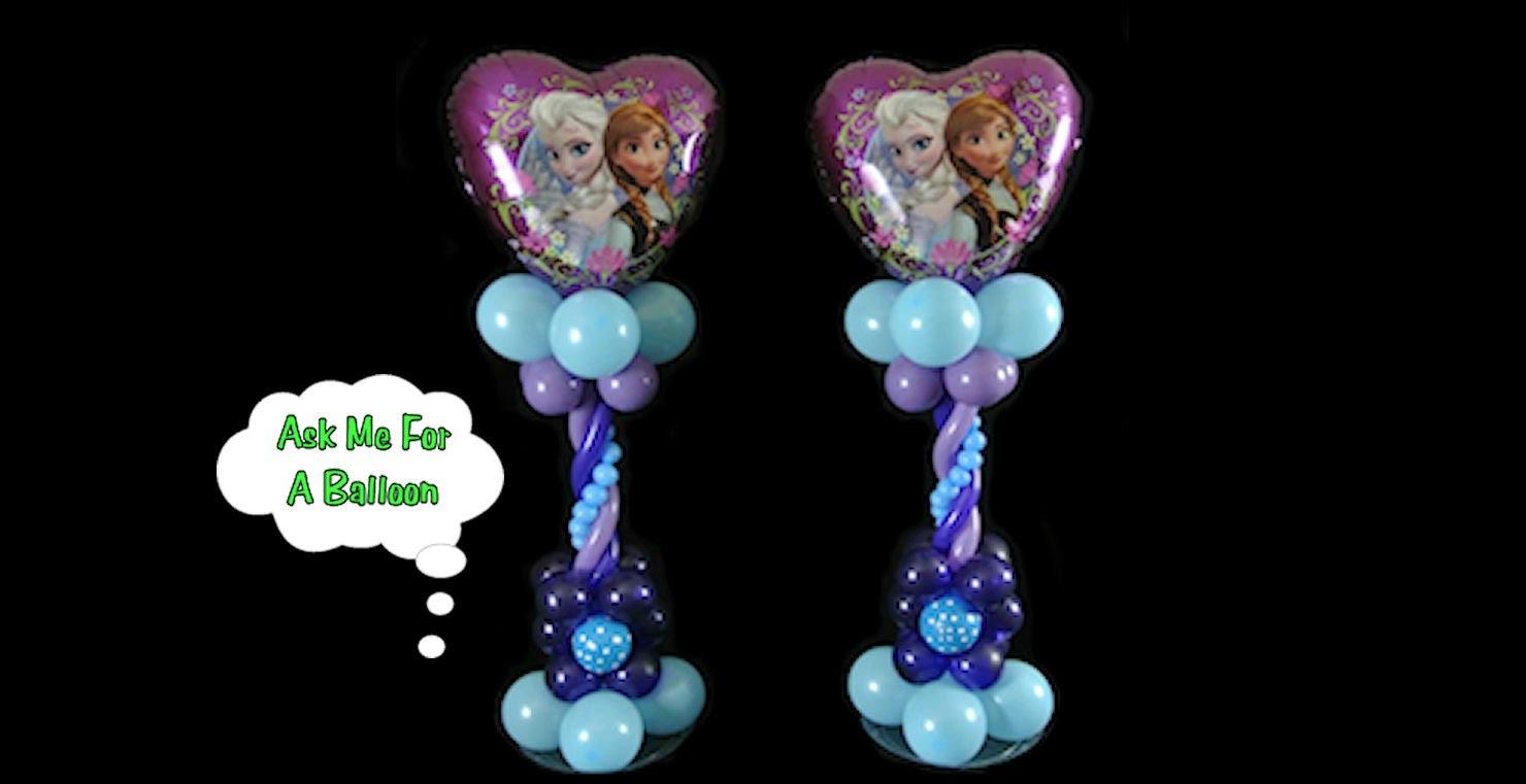 Heart Frozen Balloon Centerpiece - Balloon Decoration Tutorial