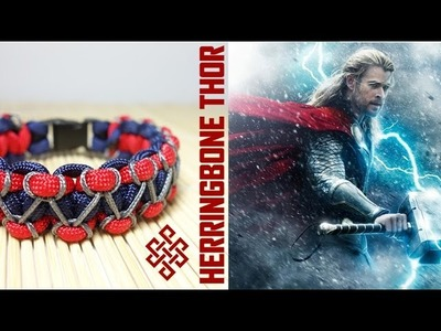 Herringbone Stitch Thor Themed Solomon Paracord Bracelet Tutorial