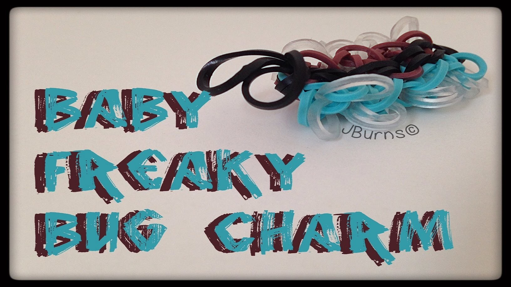 How to Loom: Baby Freaky Bug charm (UPDATED TUTORIAL)