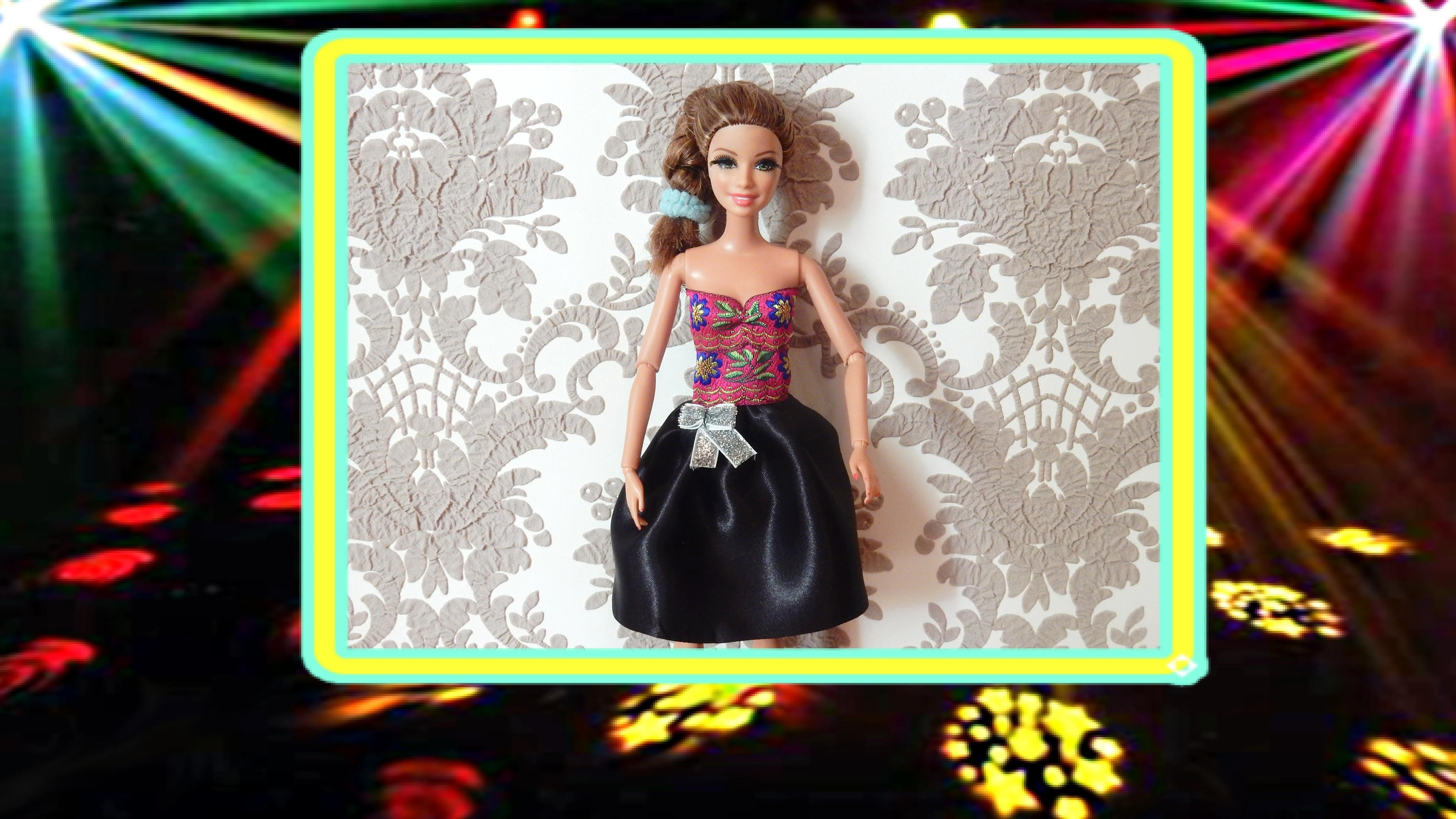 How to make a dress for the doll Tutorial How to Make Barbie Doll Clothes
